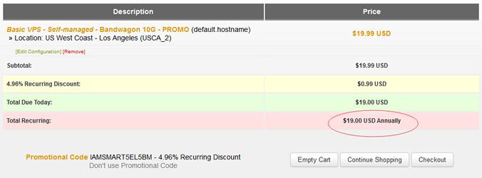 搬瓦工VPS再次更新优惠码且比之前又便宜了一点点