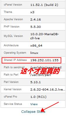 我们真是的IP地址