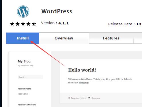 一键安装WordPress