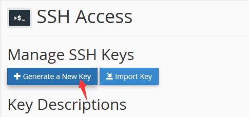 创建新的SSH密钥