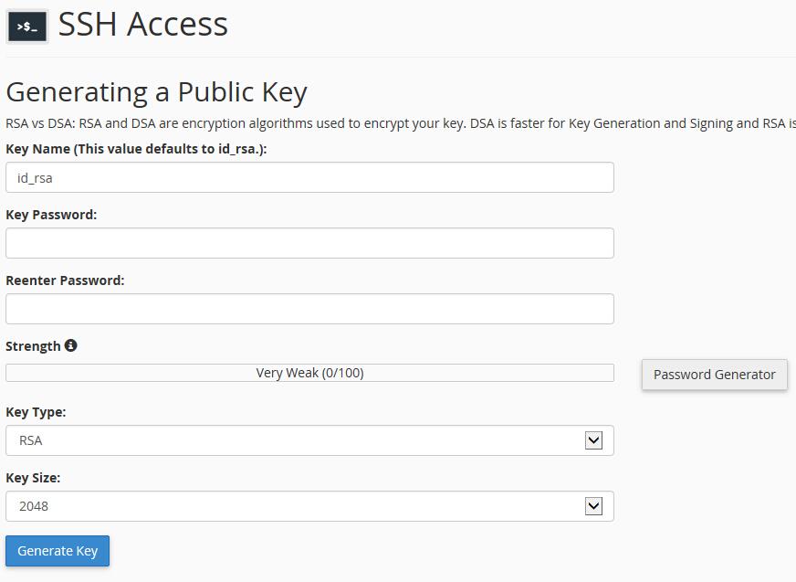 填写密钥信息
