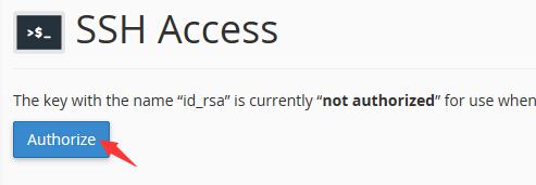 给SSH密钥授权