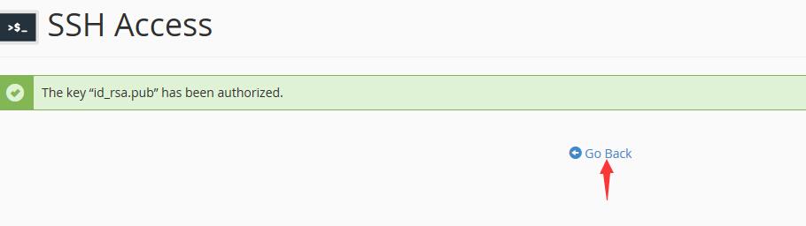 SSH密钥授权成功