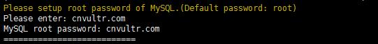 设置MYSQL密码