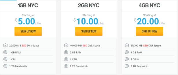 老鹰主机新增云主机(Cloud Hosting)月付5美元1GB内存